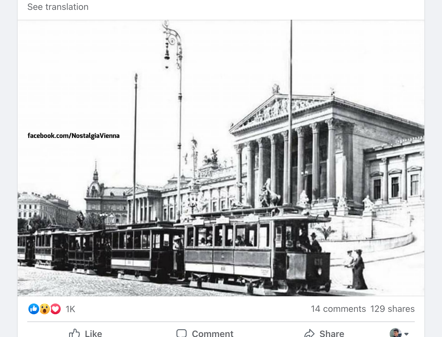 Yet another Facebook Suggested Post Tram picture