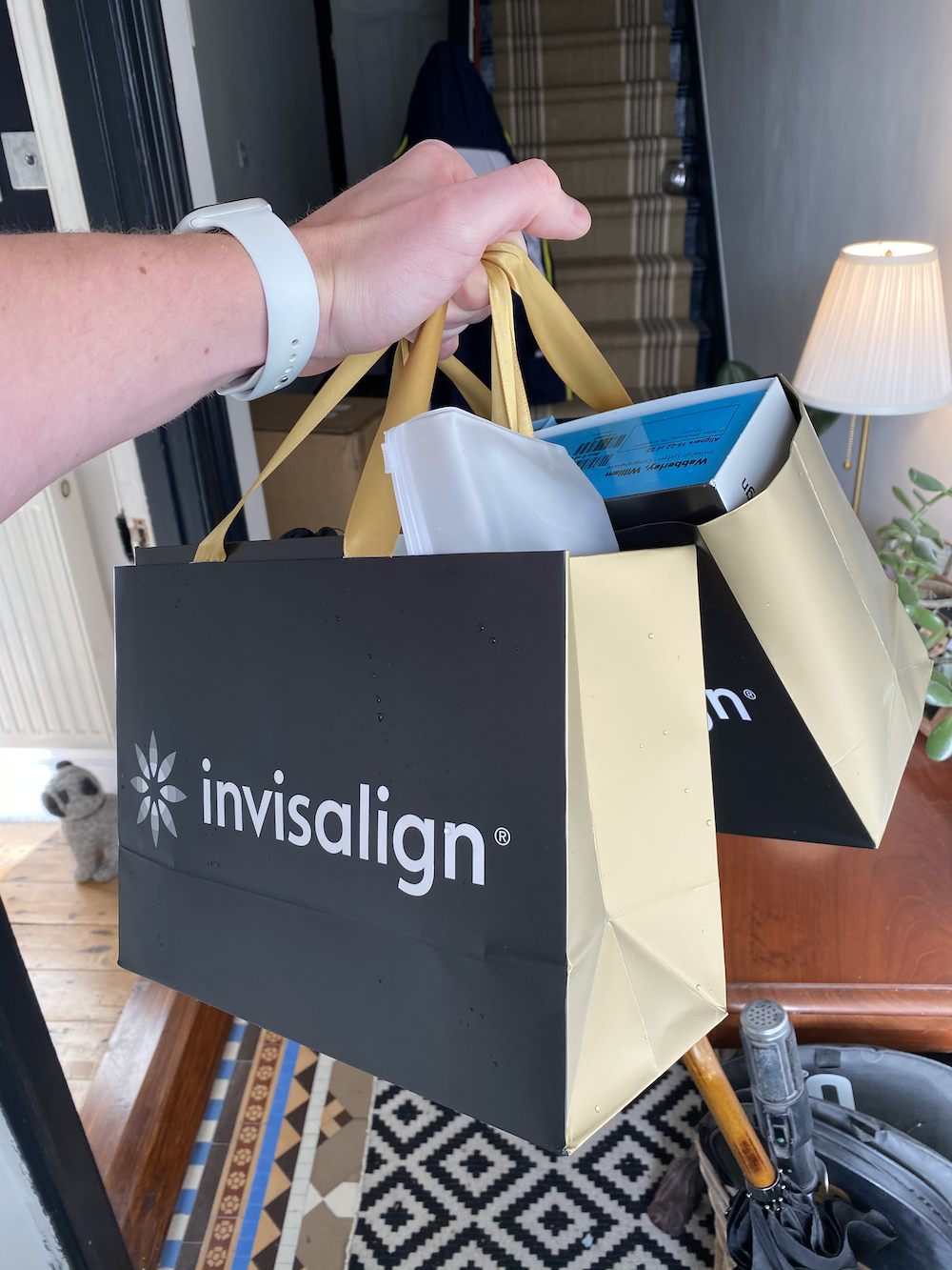 My Invisalign goodie bags